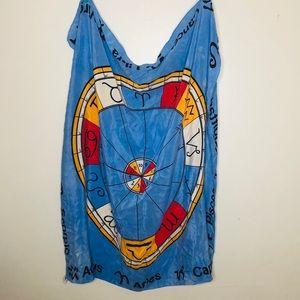 Albert Nipon zodiac signs silk scarf